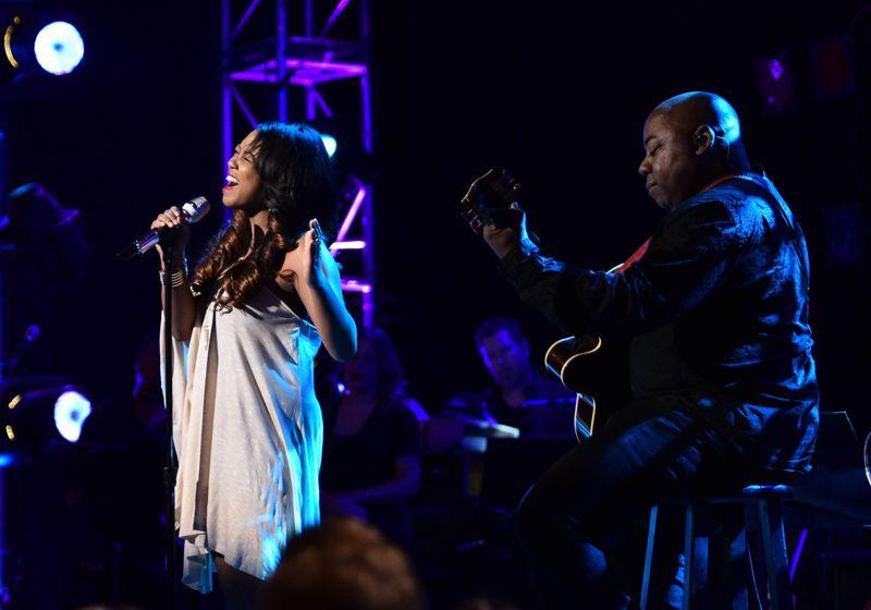 Sarina-Joi Crowe performs in Top 16