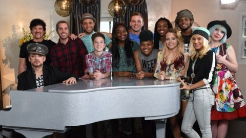 American Idol 2015 Top 9 performance mentor Boy George & contestants