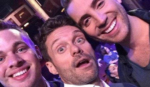 Ryan Seacrest selfie with Clark & Nick at American Idol finale