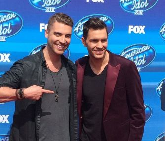 Nick Fradiani outside before American Idol finale