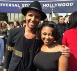 Rayvon Owen with Sarina-Joi Crowe