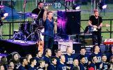 Clark Beckham performs in his hometown