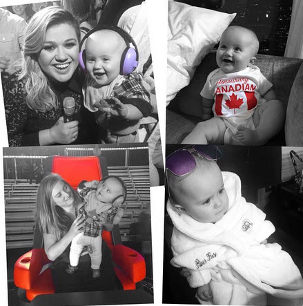 Kelly Clarkson and baby River Rose 2