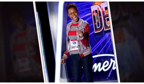 Sikenya Thompson at American Idol auditions (FOX)