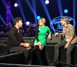 Idol Judges chat by the stage