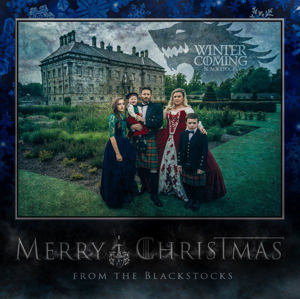 Kelly Clarkson & Game of Thrones Christmas card