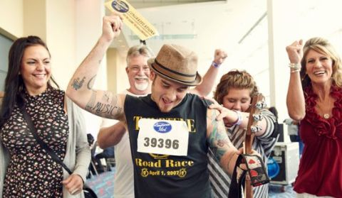 Golden Ticket holder at American Idol auditions