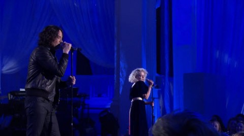 Constantine Maroulis and Jenn Blosil American Idol Top 24 duet (FOX)