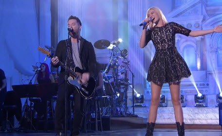 David Cook and Olivia Rox American Idol Top 24 duet (FOX)