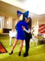 Sonika Vaid & Sia share a hug