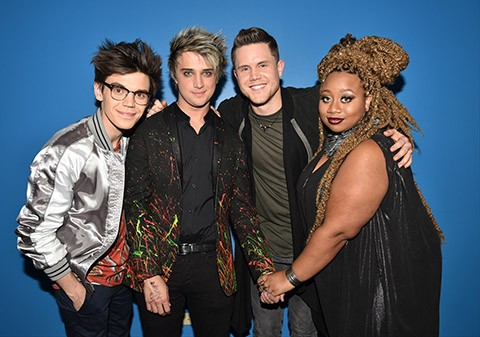 AMERICAN IDOL: Top 4: L-R: Top 4 contestants MacKenzie Bourg, Dalton Rapattoni, Trent Harmon and La'Porsha Renae on AMERICAN IDOL airing Thursday, March 24 (8:00-10:00 PM ET/PT) on FOX. © 2016 FOX Broadcasting Co. Cr: Michael Becker/ FOX. This image is embargoed until Thursday, March 24,10:00PM PT / 1:00AM ET