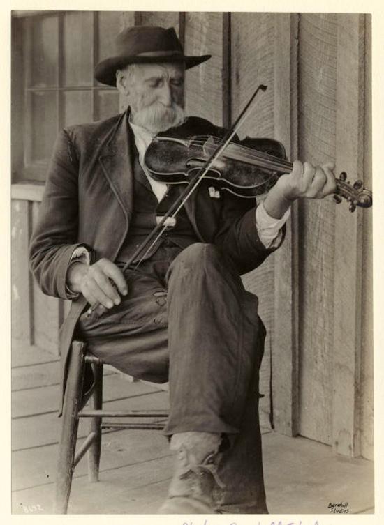 A mountain fiddler circa 1920.