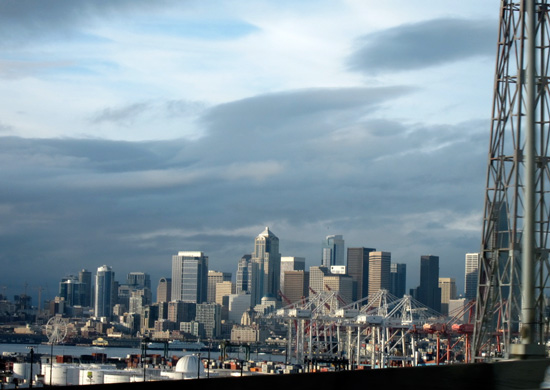 Seattle from the bridge (Credit: Susan Barsy)