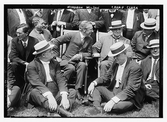 Woodrow Wilson and Champ Clark at Sea Girt, New Jersey (Courtesy Library of Congress via Flickr Commons)