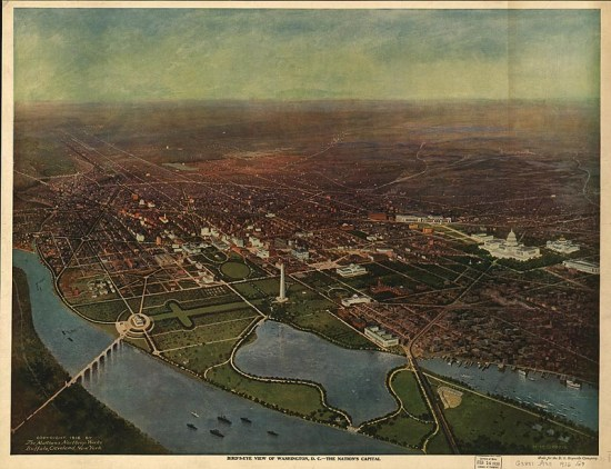 "H. H. Green, ""Bird's Eye View of Washington, DC,"" 1916 (Courtesy of the Library of Congress)"
