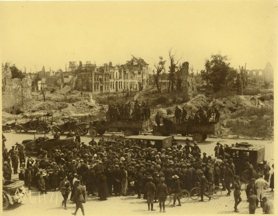 President Wilson and the King and Queen of Belgium at Ypres, 1919 (Courtesy: Woodrow Wilson Presidential Library via the Commons on Flickr)