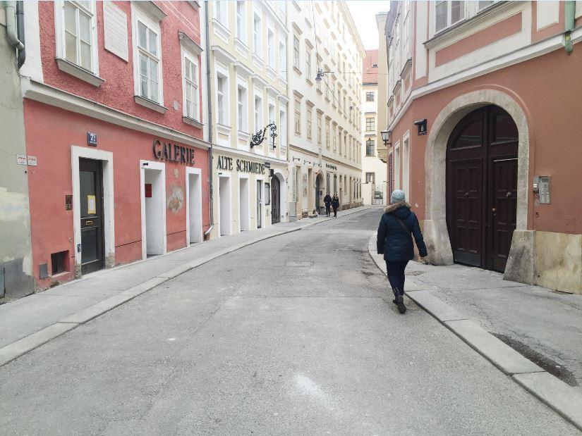 walking down the street vienna austria