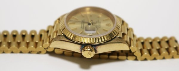 Gold Ladies Watch side view