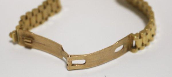 Rolex Gold Ladies Watch 69138 inner clasp