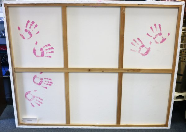 Roostaei Schindler Original Painting hand prints