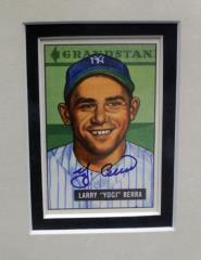 Yogi Berra Autograph Photo card