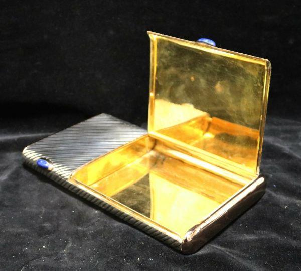 Silver Cigar Cigarette Box 1 open