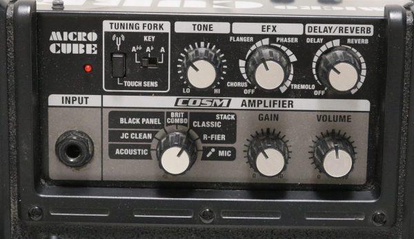 Roland Micro Cube Amp controls