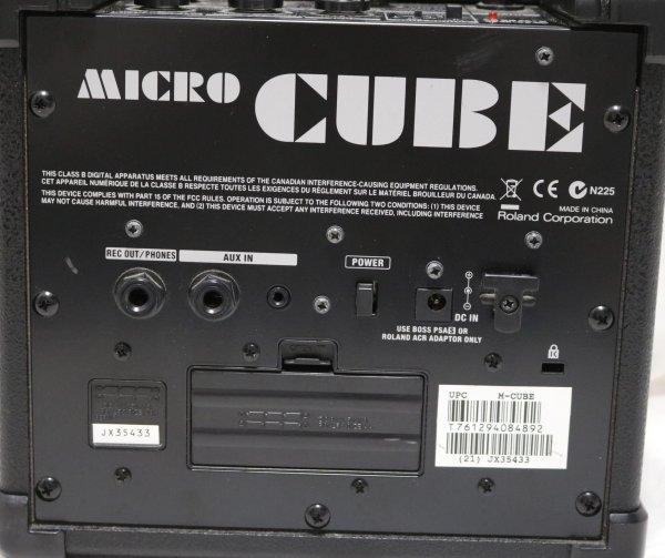 Roland Micro Cube Amp back