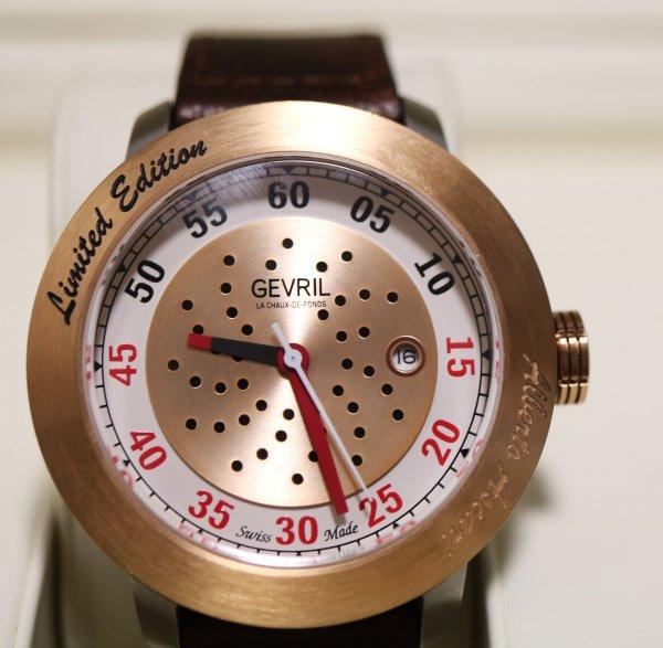 Gevril Alberto Ascari Watch closeup