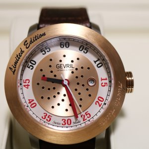 Gevril Alberto Ascari Watch closeup