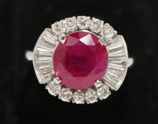 Ruby Diamond Ladies Ring top