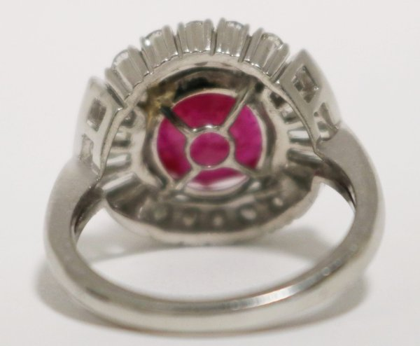 Ruby Diamond Ladies Ring back