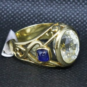 Clear Yellow Sapphire Ring main