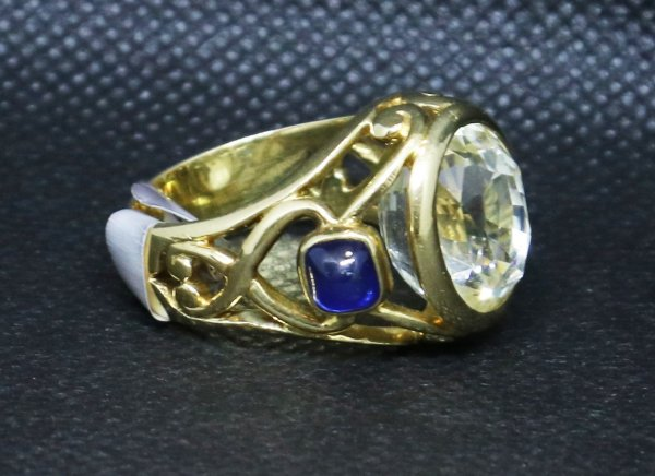 Clear Yellow Sapphire Ringother side