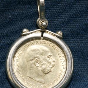 Austrian Gold Coin Pendant main