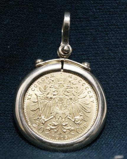 Austrian Gold Coin Pendant back