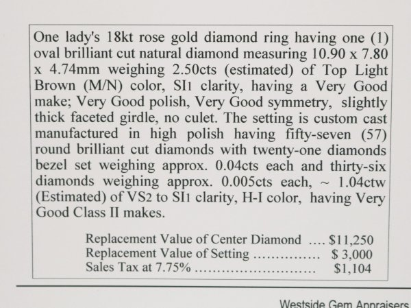 Rose Gold Diamond Ring description