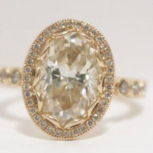 Rose Gold Diamond Ring top