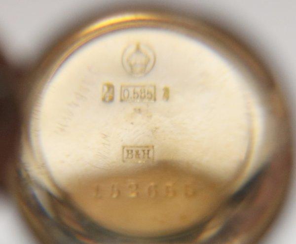 G Schmidt Staub Karlsruhe Watch gold marking