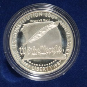 1987s Constitution Silver Dollar back