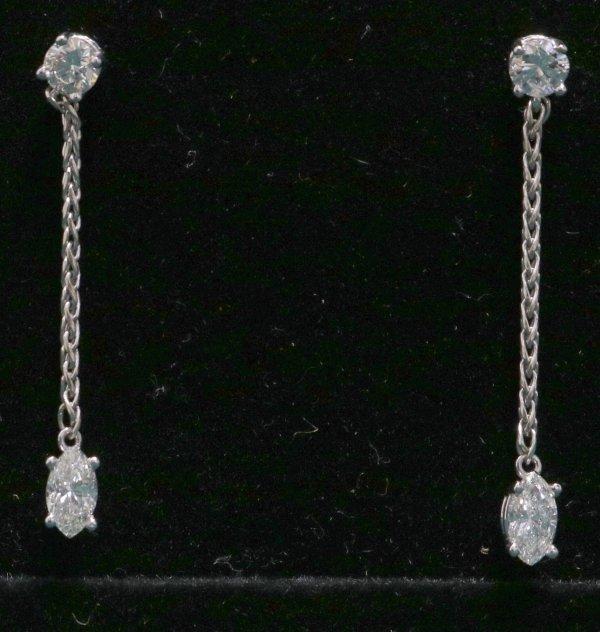 Gold Diamond Drop Earrings main