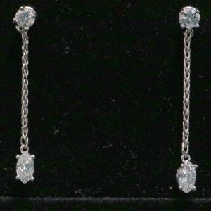 Gold Diamond Drop Earrings main