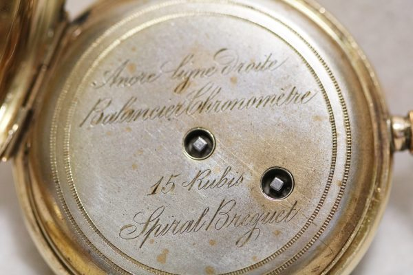 Swiss Gold Pocket Watch dust cover