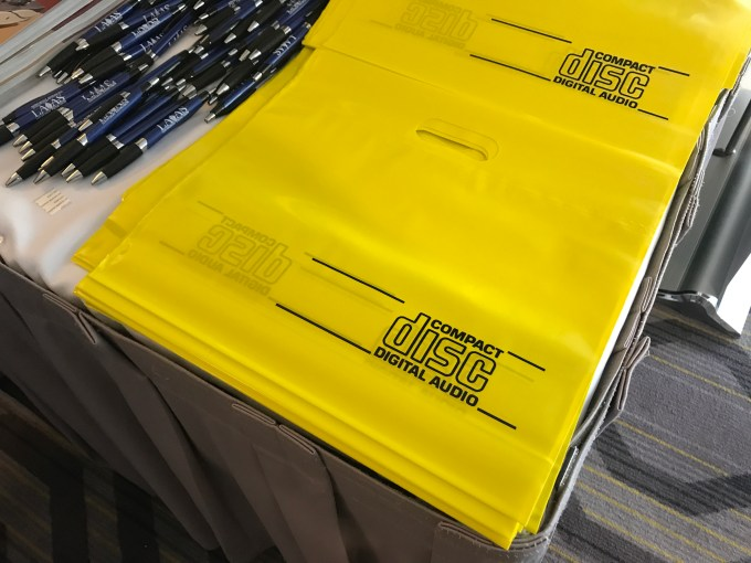 Compact Disc Bags at the LA Audio Show