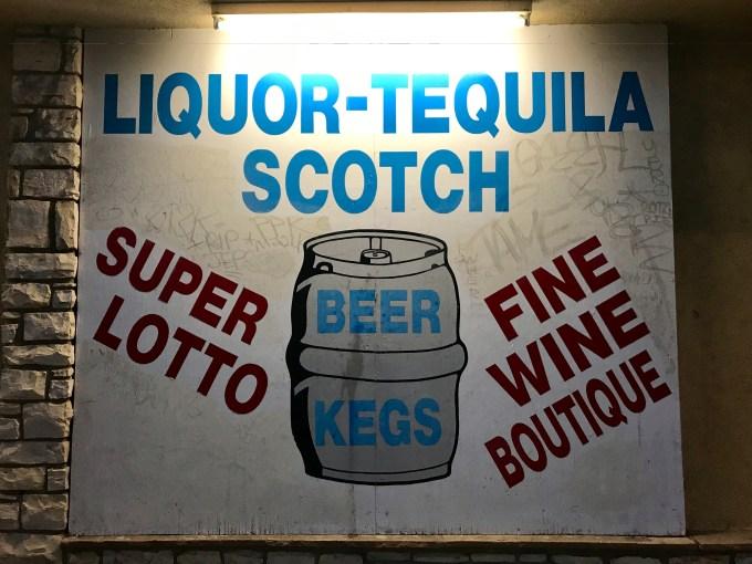 LA Audio Show - Liquor Tequila Scotch bodega sign