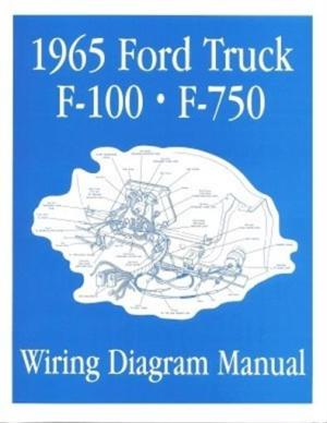 FORD 1965 F100  F750 Truck Wiring Diagram Manual 65 | eBay