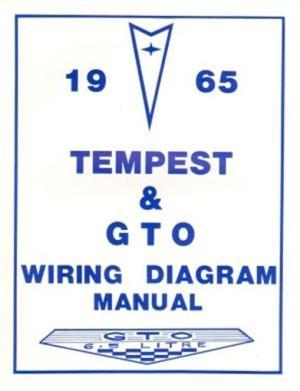 PONTIAC 1965 Tempest & GTO Wiring Diagram 65 | eBay