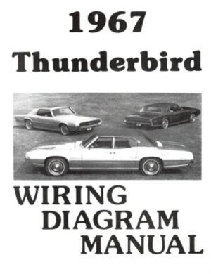 FORD 1967 Thunderbird Wiring Diagram Manual 67 | eBay