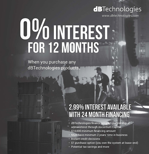 dBTechnologies 0% Finance