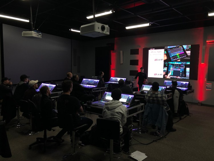 Allen & Heath Academy training room